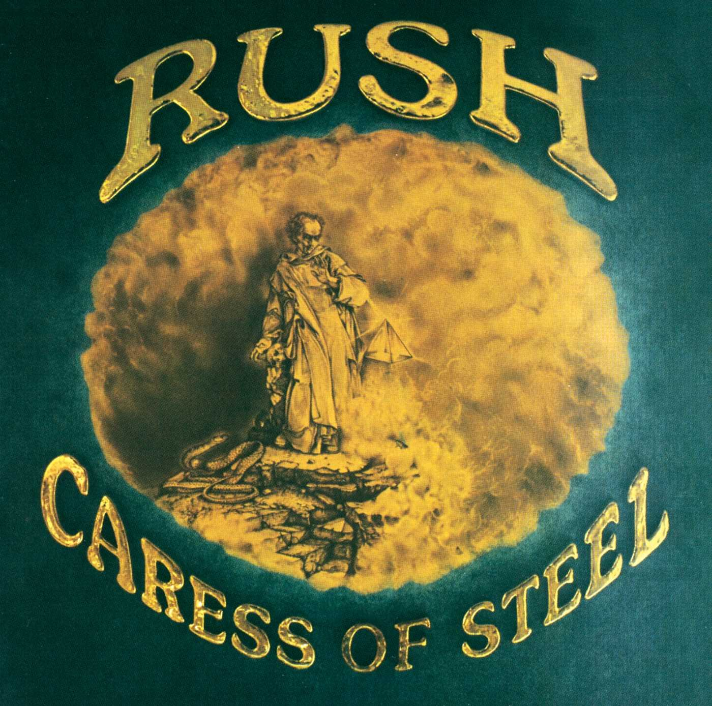 Rush: Caress of Steel cover art, 1975