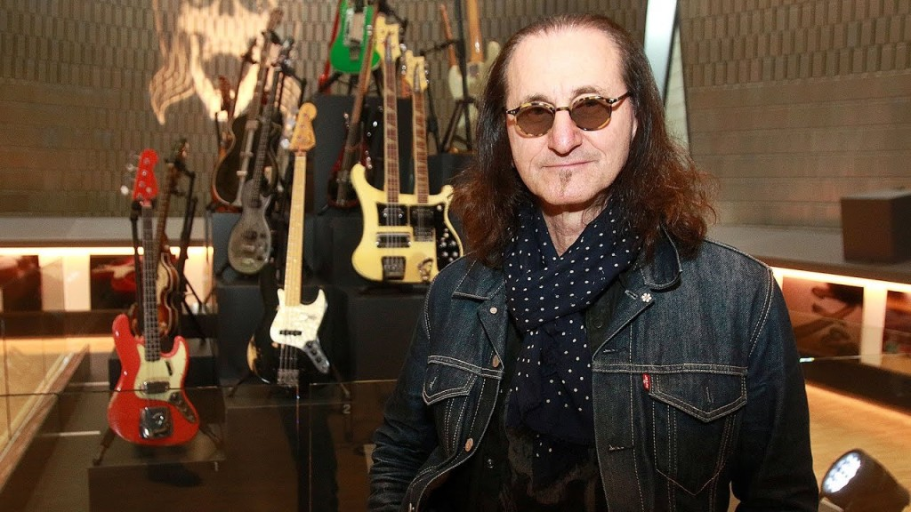Lee with part of his Bass Guitar collection - Rush