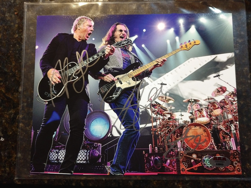 My personal Rush autographed picture from the R40 tour in 2015