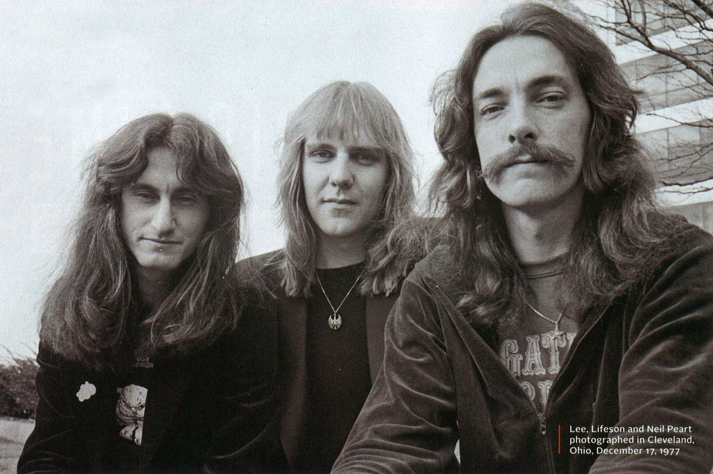 Lee, Lifeson and Peart, 1977