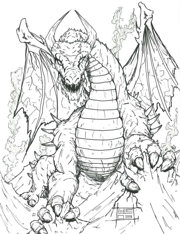 Dragon sketch, 2003