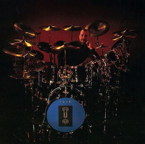 Neil Peart with his Counterparts drum kit. The Thinking Man's Drummer!