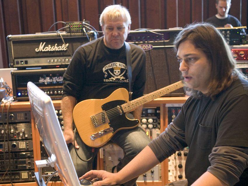 Nick Raskulinecz works with Alex Lifeson on Clockwork Angels