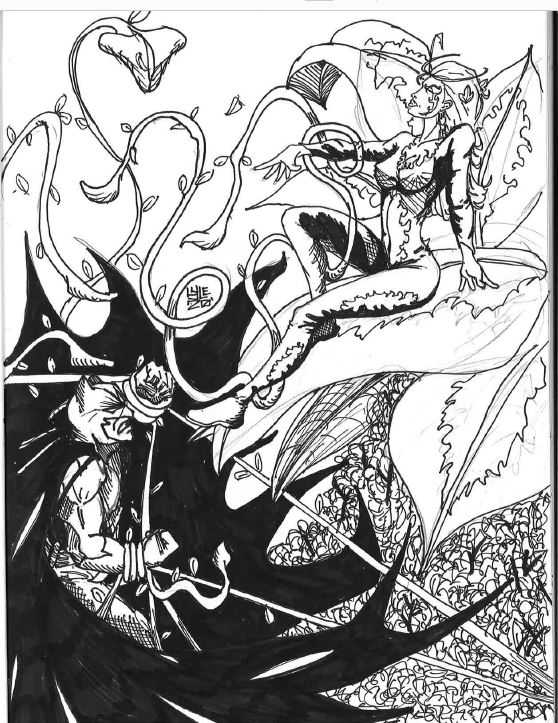 Poor Batsy... Ivy has him all tangled