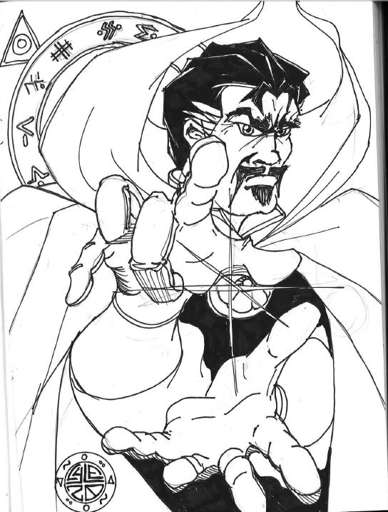 Dr. Strange - I think I'll color this one later on.