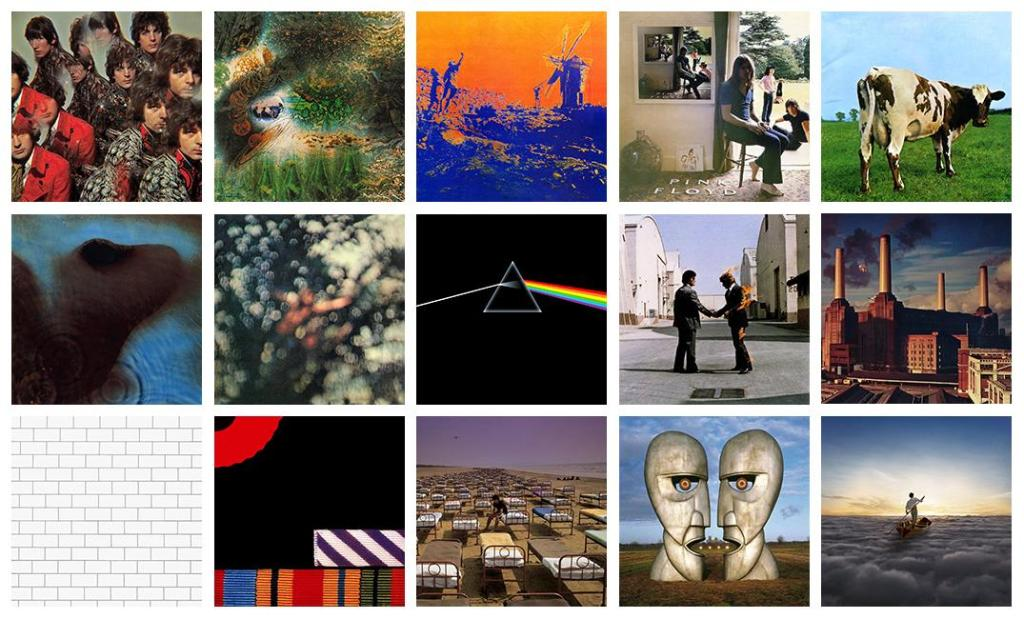 The albums of Pink Floyd, from 1967 to present